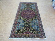 6and0394 X 12and03911 Wide Runner Hand Knotted Navy Blue Fine Tabrez Oriental Rug G7995