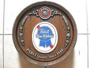 1970and039s Pabst Blue Ribbon Beer Vintage Barrel Signboard Material Plastic 40cm