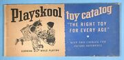 1950s Playskool Toy Catalog Educational Wood Playsets Trains Pull Toys Puzzles