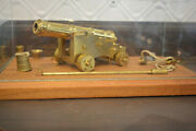Valley Cannon Works Miniature Brass Naval Cannon, Mint Presentation Case