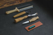 Spoon And Kuksa Carving Professional Set With Knives Bent Gouge And Strops Beav