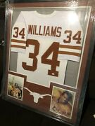 Framed Autographed/signed Ricky Williams 33x42 Texas Orange Jersey Jsa Coa Auto