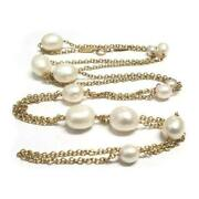 And Co. 18k Yellow Gold Elsa Peretti Pearls By The Yard Necklace 36