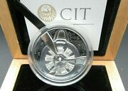 2020 Ltd Edition Of The Black Proof Propeller Siver 2oz Coin Complete With C.o.a