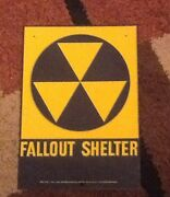 Fallout Shelter Sign Original 1960and039s. 10 X 14. Lot 2a