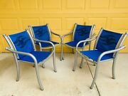 Disney Cruise Line Dcl Cast Deck Chairs Set Of 4 Ship Dream Tropitone Mickey