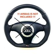 Reshaped Flat Bottom Steering Wheel Audi Tt 8n With Tts Badge Perforated Leather