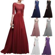 Women Formal Wedding Bridesmaid Long Evening Party Prom Ball Gown Cocktail Dress