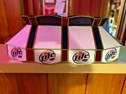 Guc Glass Miller Light Beer White W/ Red And Blue Scalloped Edge Pool Table Light