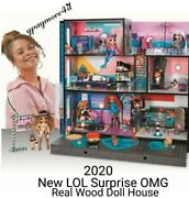 2020 New Lol Surprise Omg Fashion Doll House Real Wood W/85+ Surprises Low Price