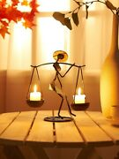 Woman Holding Candle Holder Home Decoration Instagram Style