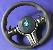 Bmw M5 Steering Wheel With Pedals Carbon F10 F11 F18 F06 F12 F01 Heating + Vibro