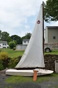 Vintage 1940s Plywood Sparkman And Stephens 11 Foot Sailboat Home Built Solid