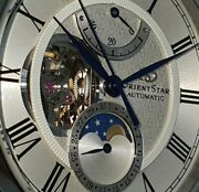 Orient Star Mechanical Moonphase Re-am0005s Sapphire Power Reserve Indicator