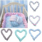 Infant Crib Baby Newborn Bed Bumper Bedding Knot Cushion Protector Fence Cotton