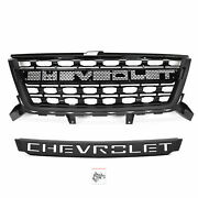 Front Grille Fit For Chevrolet Colorado 2016-2020 Black Grill W/letter 84431359