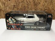 Rare Andldquo Starsky And Hutch Andldquo Chrome Ford Gran Torino 1/18 Scale Diecast Ertl New