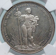 1879 Switzerland Basel Antique Shooting Festival Swiss Silver 5f Coin Ngc I85273