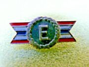Vintage Army Navy Production Award And039eand039-ww11- Sterling Enameled