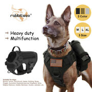 Rabbitgoo Tactical Dog Pet Harness No-pull Strong Adjustable Vest With Handle