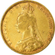 [873493] Coin, Great Britain, Victoria, Sovereign, 1889, London, Ef, Gold