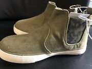 Cat And Jack Olive/anton Casual Fashion Slip On Boots Size 9 Suede Like Material