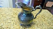 Vintage Poole Old English 5008 Silver Footed Water Pitcher 8.5x9 Rare Old