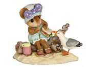 Wee Forest Folk Seaside Suzy, Wff M-680, Lavender Bow, Beach Mouse New 2020