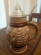 Vintage 1977 Avon Collectible Beer Stein Sailing Nautical Tall Ships 390758