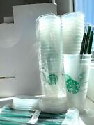 30 Starbucks Reusablefrosted Ice Cold Drink Cup With Lid And Straw Venti 24 Oz