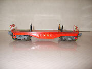 Lionel 6111 Log Car Red W/ White Serif Lettering T37