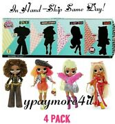4 Pack Lol Surprise Omg Fashion Dolls Series 1 Swag Lady Diva Royal Bee Neon New