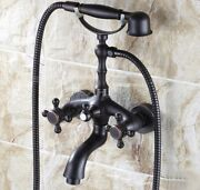 Bathroom Plumbing Oil Rubbed Bronze Bathtub Clawfoot Tub Faucet With Hand Shower