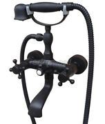 Bathroom Plumbing Oil Rubbed Bronze Clawfoot Tub Faucet With Hand Shower Atf606