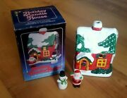 Vintage Ceramic Christmas Candle House Winter Holiday Village New Unused W/ Box