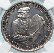 1928 Germany Weimar Republic Cologne Cathedral German Silver Medal Ngc I85322