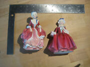 2 Vintage Royal Doulton Figurines Lavinia + Goody Two Shoes App. 5 1/4 High