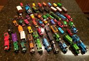 Vintage Mixed Wooden/metal Lot Of 64 Thomas The Train And Friends Set Cars Engines