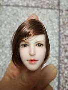 Super Duck 1/6 Female Short Hair Head Carving Sdh011a Fit 12 Action Figure Doll