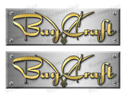 Bay Craft Remastered Stickers. Brushed Metal Style - 10 Long