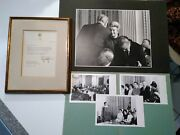 Lot Of Lyndon B. Johnson - Typed Letter Signed 1969 To New Us Citizen + Photos