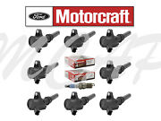 8 Motorcraft Ignition Coil And Spark Plug Dg508 Sp479 1999-04 Ford F250 Super Duty