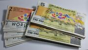 100 Of Each 2 And 5 Souvenir Tourist Dollars Banknotes World Expo 88 Brisbane