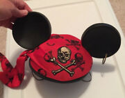 Pirates Of The Caribbean Mickey Ear Hat Pirate Theme Skull Crossbones Earring