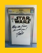 Stan Lee Signed Cgc 9.8 Star Wars 1 2015 Inscription May The Force 1316001019