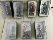 Marvel Movie Collection Issues 1andnbsp To 7 Figurine Figures + Magazines