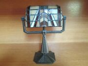 Partylite Stained Glass Desktop Banker's Style Lamp Candle Holder