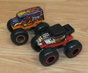 Lot Of 2 Monster Truck Hot Wheels Bone Shaker Delivery Collectible Toy Trucks