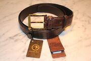 Stefano Ricci Brown Crocodile Leather Belt 115/46 - Made In Italy 2000.00