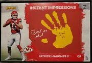 2017 Patrick Mahomes Impressions Rc Auto And Hand Print 7/10 11x17in🔥 Very Rare